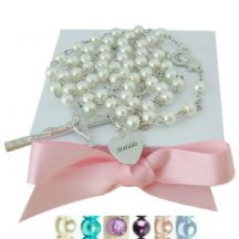 Personalised Rosaries with Smaller Pearls